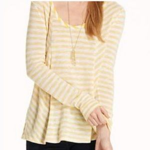 Anthropologie Tops - Saturday Sunday Anthro• Yellow Striped Top